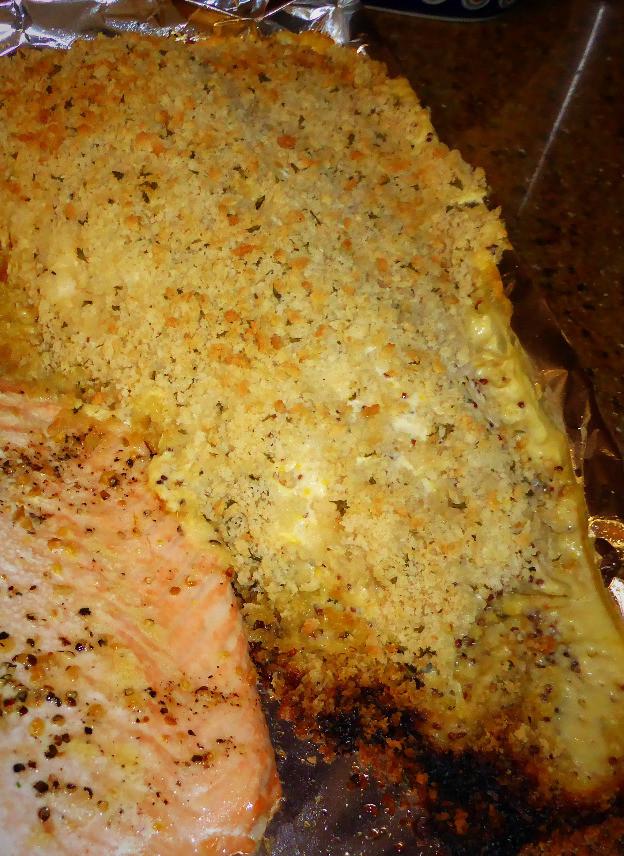 Crunchy Dijon Baked Salmon
