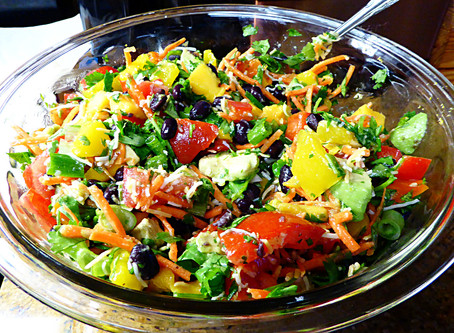 Easy Cool Dinner or Side:  Mango Fiesta Salad