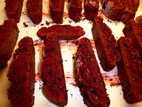 Quick Red Velvet Biscotti:  Cake Mix to the Rescue