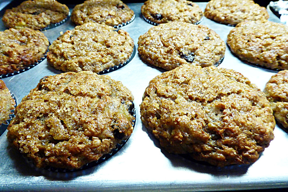 Healthy Banana Oat Bran Muffins