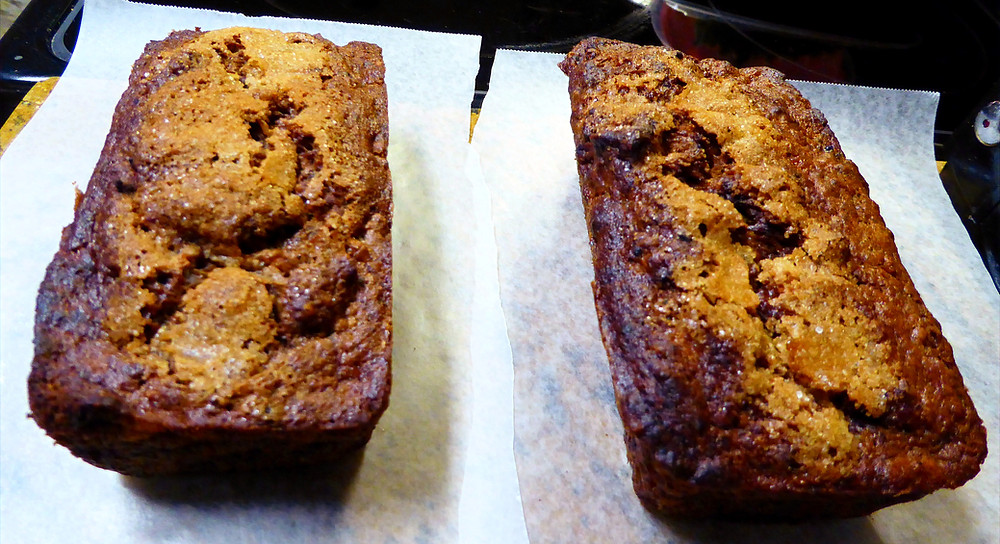 Air Fryer Cocoa Banana Bran Mini Breads Loaves