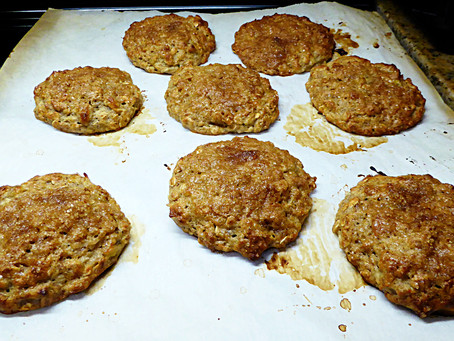 Make Mom Some Cookies for Breakfast:  Healthy Banana Oat Cakes