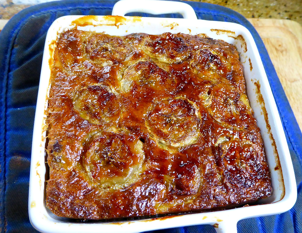 Banana Bread Breakfast Bake Made in the Air Fryer or Oven