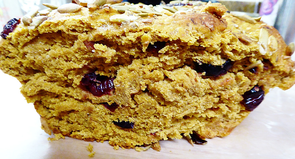 Cranberry-Pumpkin Yeast Bread
