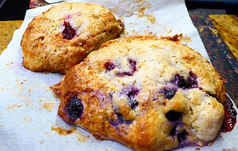 Make Berry Cream Scones in Your Air Fryer With Your Sourdough Discard