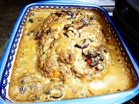 Comfort Food:  Mushroom Meatloaf
