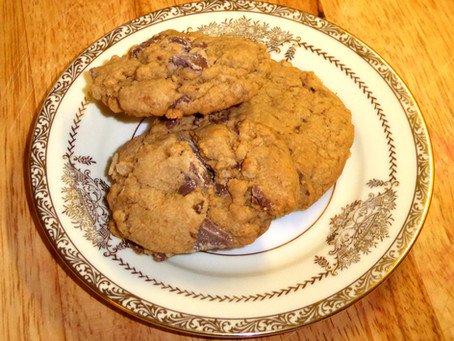Broken Santa Cookies:  Chocolate and Crispy
