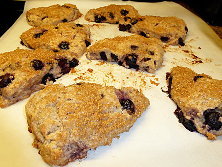 Tired of Sourdough?  Try Healthy Blueberry Scones