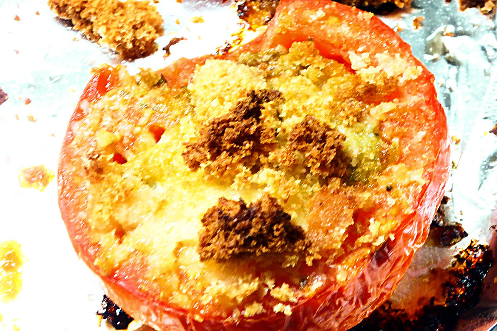 Baked Pesto Tomatoes