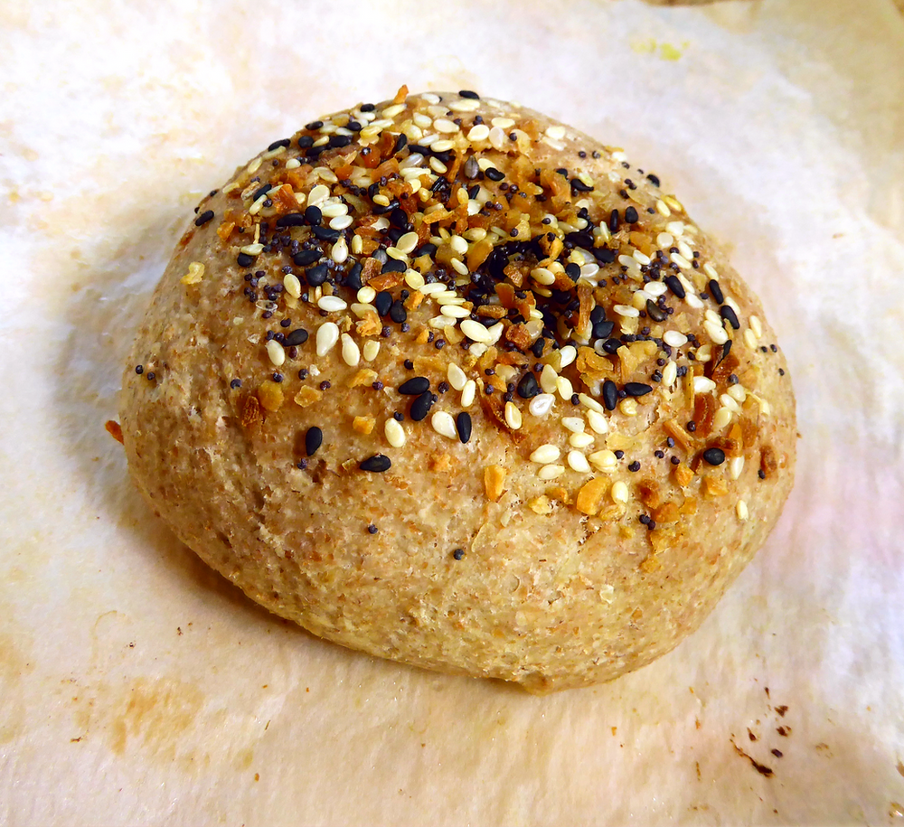 Have Discard?  Make Sourdough Everything Bagel Buns--Cream Cheese Included