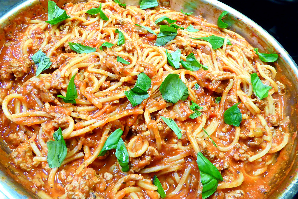 Tired of Cooking?  Make One-Pot Turkey Spaghetti