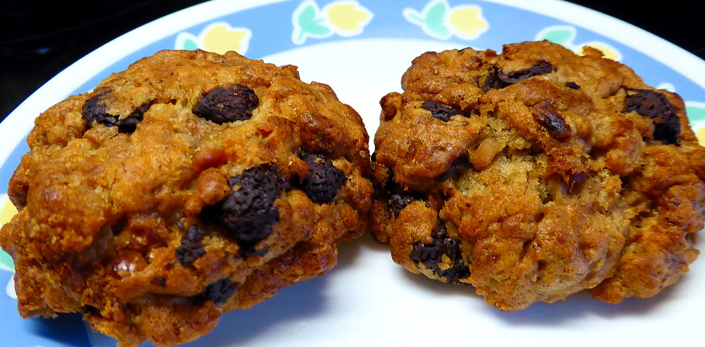 What To Do With Mushy Bananas?  Make Air Fryer Peanut Butter and Banana Cookies