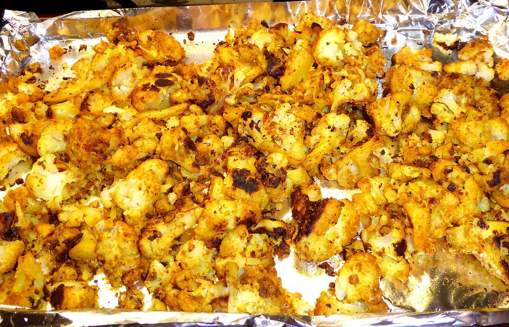 Simple Sidedish: Roast Cauliflower with Tumeric