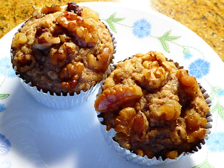 Low Fat, Low Sugar Apple Cider Muffins