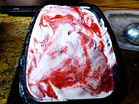 Better Than Halo Top:  Homemade Strawberry Ripple Ice Cream