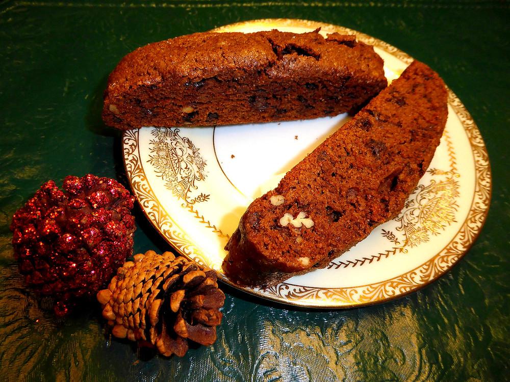 Christmas Gift Chocolate Biscotti