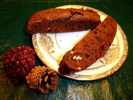 Christmas Platter Cookies:  Chocolate Biscotti