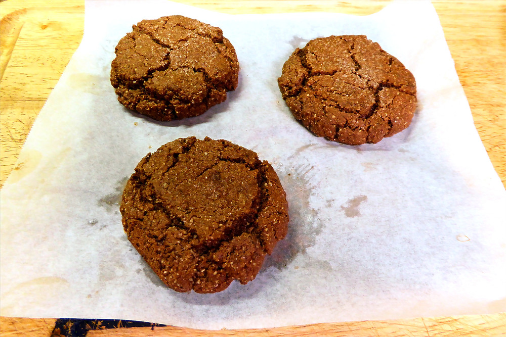 Simple Air Fryer Chocolate Almond Cookies--No Wheat Flour