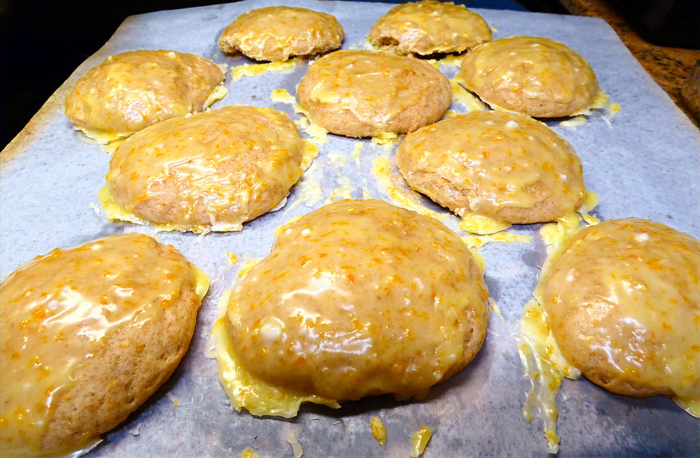 Use Your Discard in Soft Sourdough Glazed Orange Cookies