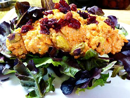 No Boring Bunny Stuff:  Carrot and Pistachio Salad