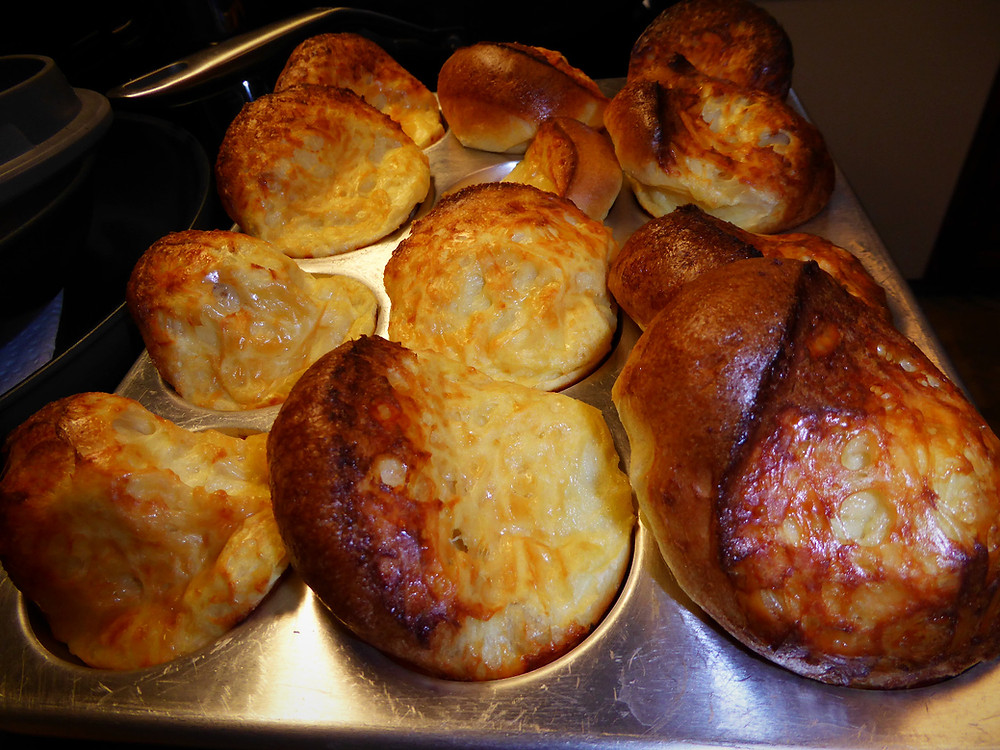 Cold Oven Parmesan Popovers