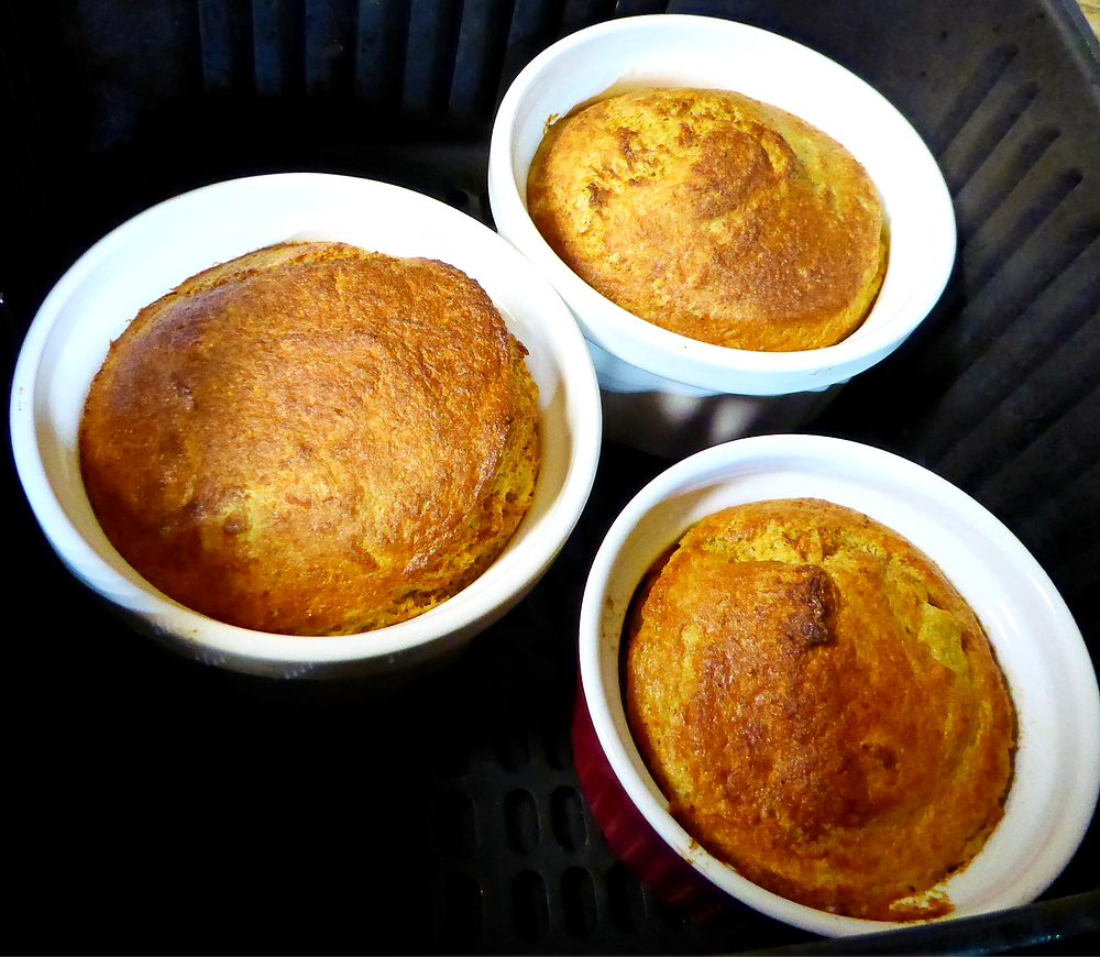 Air Fryer Butternut Squash Souffles Made With Frozen Squash Main Dish or Side Dish