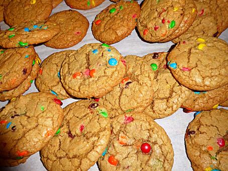 Simple Comfort:  Chewy M&M Cookies
