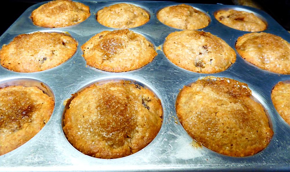 Is It Discard Day?  Make Sourdough Lemon-Mace-Raisin Cakes