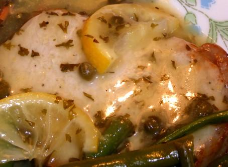 Air Fryer Pork Chops with Lemon-Caper Sauce