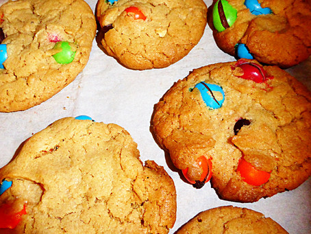 No Time to Bake Cookies:  Peanut Butter & M&Ms