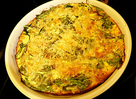Meatless Main:  No-crust Spinach Quiche