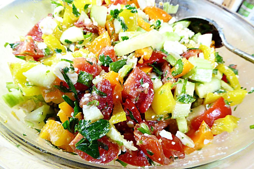 Confetti Tricolor Bell Pepper Salad