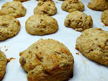 Can You Freeze Sourdough Starter?  Yes, But First Make Cheddar-Parmesan Biscuits