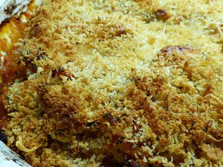 Lighter Dinner:  Spaghetti Squash Casserole