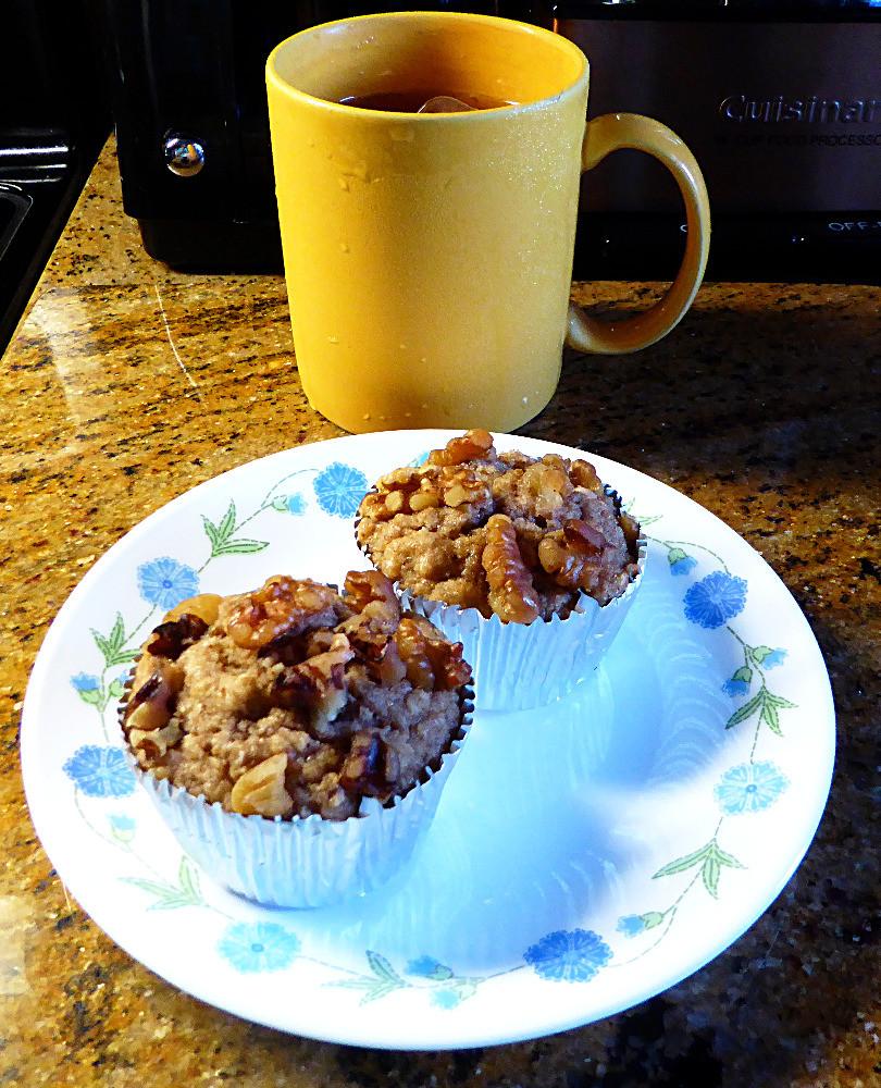 Low Fat, Low Sugar Apple Cider Muffins