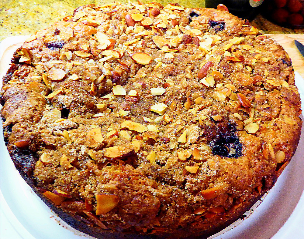 What to Make for Dessert for the 4th of July?  Blueberry Coffee Cake