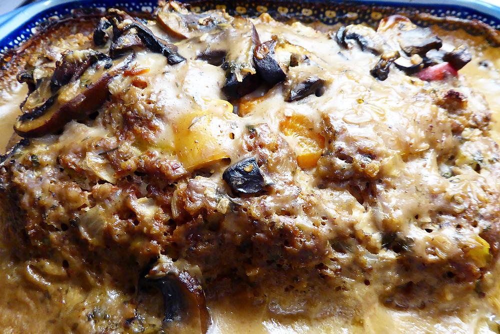 Savory Comfort Food:  Mushroom Meatloaf