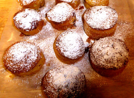Air Fryer Homemade Orange-Raspberry Cupcakes