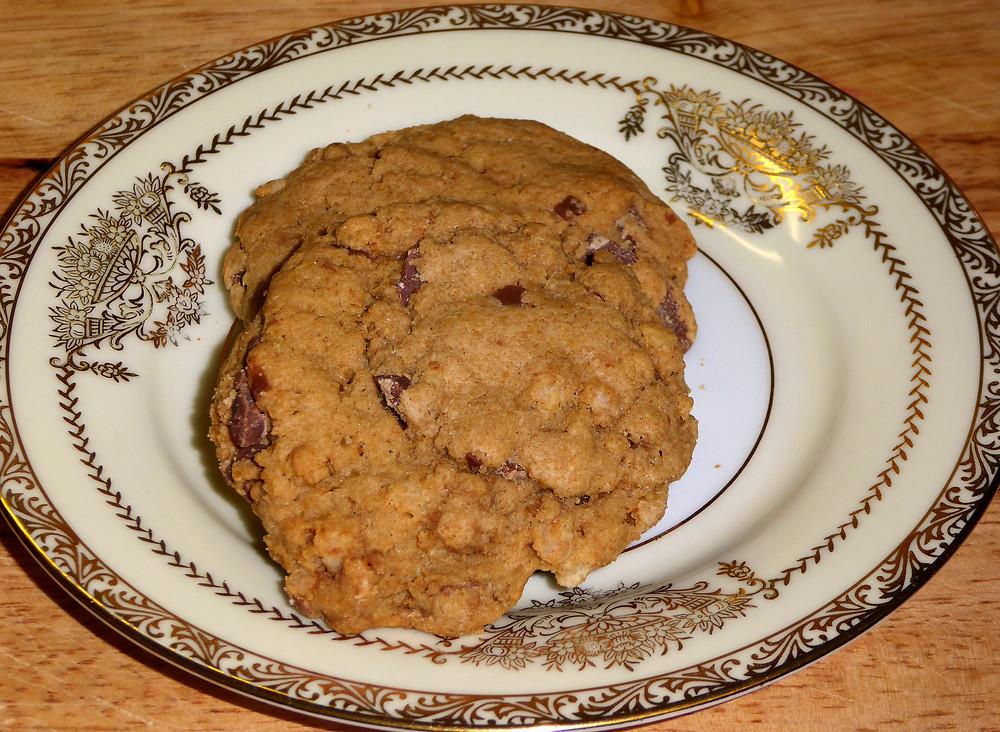 """Milk Chocolate Crispy Cookies--AKA """"Broken Santa Cookies"""""""