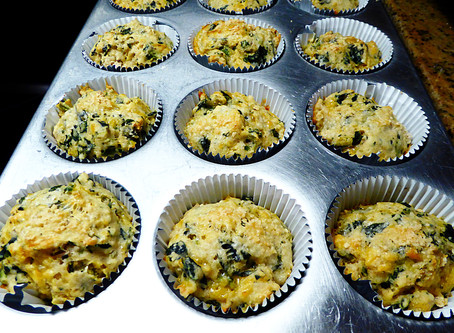 Cheesy Spinach Muffins--Air Fryer or Oven?
