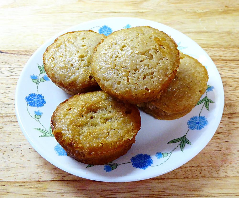 Sourdough Lemon Muffin Puffs -- No Baking Powder