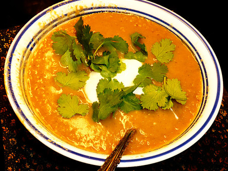 Save the Planet Soup:  Creamy Red Lentils
