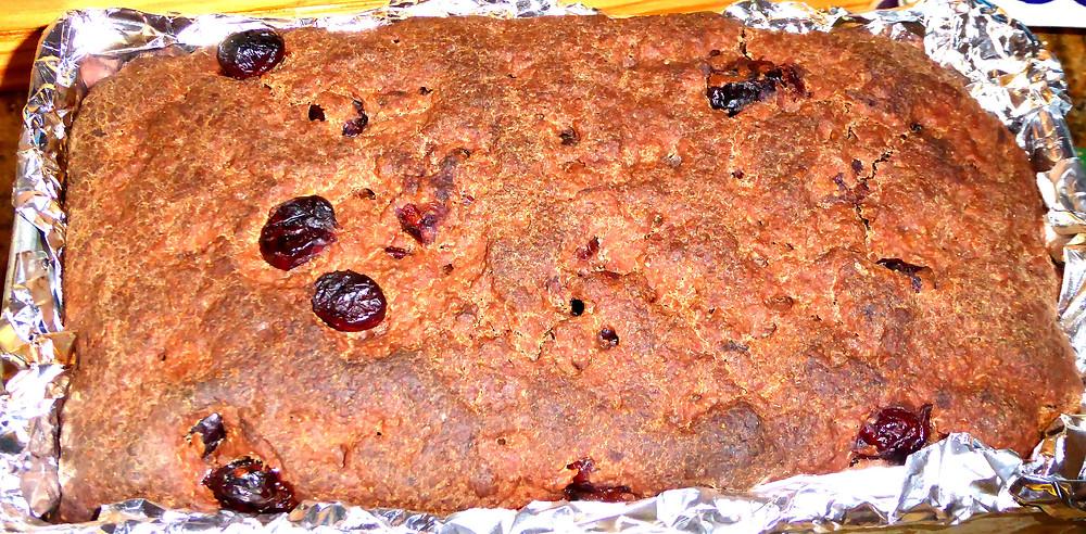 Sourdough Dark Rye Bread with Cranberries