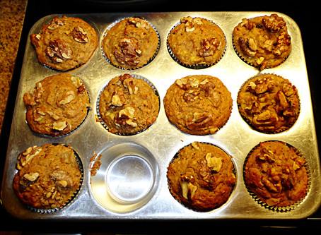 Whole-Grain Banana Breakfast Muffins:  Use Up Those Malingering Bananas