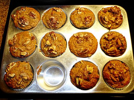 Whole-Grain Banana Breakfast Muffins:  Use Up Those Malingering Bananas