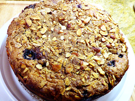 Special 4th of July Dessert:  Blueberry Coffee Cake