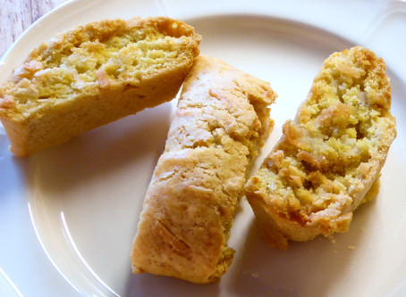 Air Fryer Cookies:  Coconut-Orange Biscotti