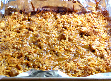 Quick Thanksgiving Worthy Dessert:  Caramel Dream Bars