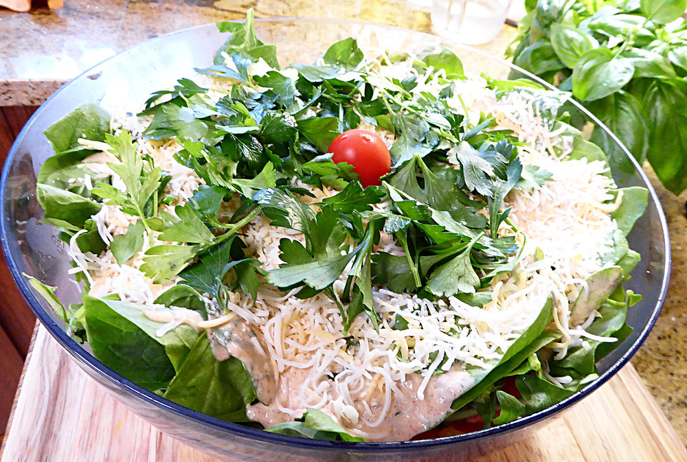 Southern Cornbread Layered Salad