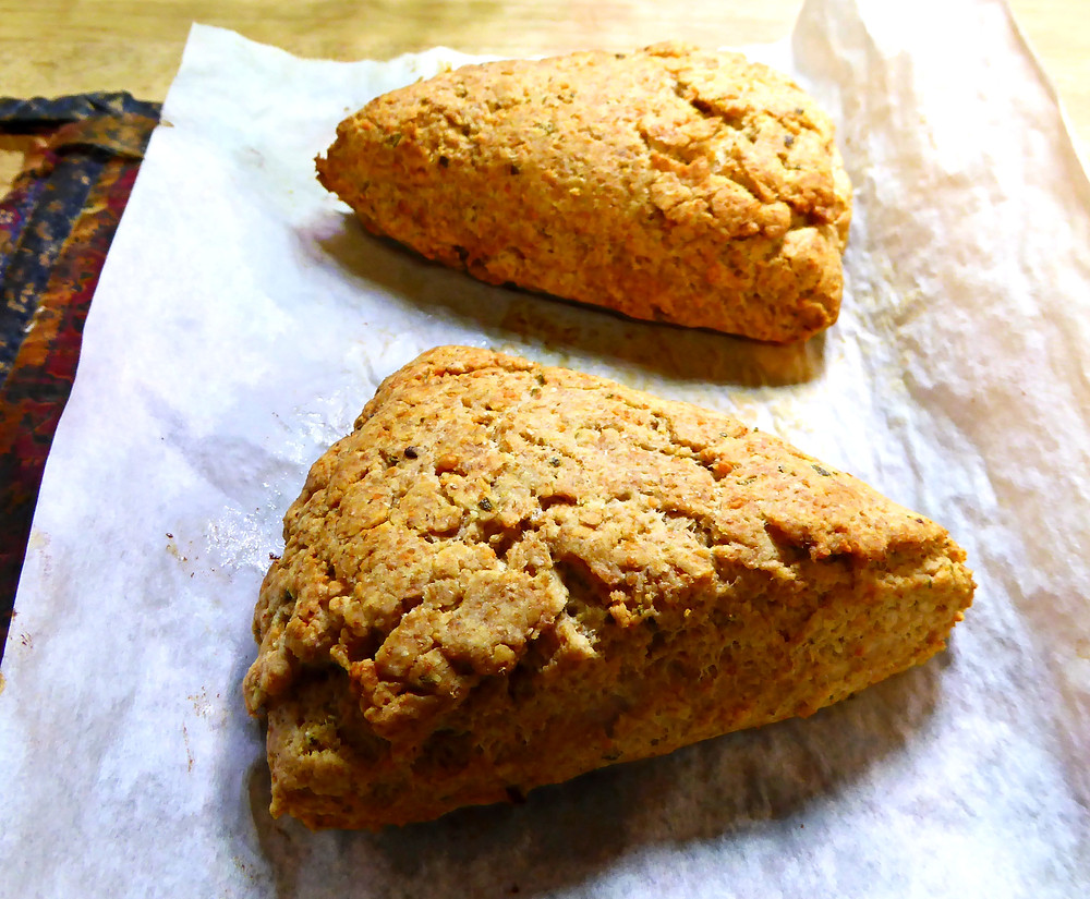 Savory Sourdough Discard Rosemary Olive Oil Scones Air Fryer or Oven